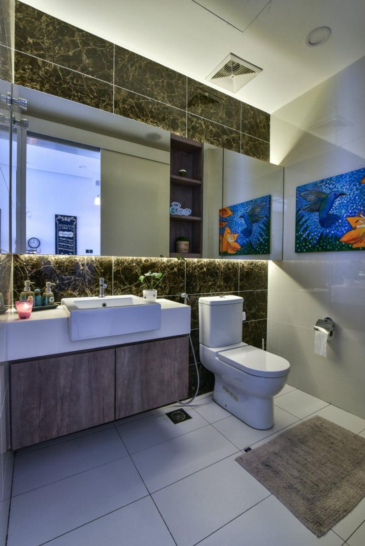 Modern, Landed, 16 Sierra, Akira, Interior Designer, M innovative Builders, Toilet, Art, Modern Art, Bathroom, Indoors, Interior Design, Room