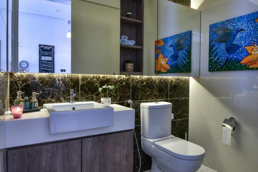 16 Sierra, Akira, M innovative Builders, Modern, Landed, Toilet, Art, Modern Art, Bathroom, Indoors, Interior Design, Room
