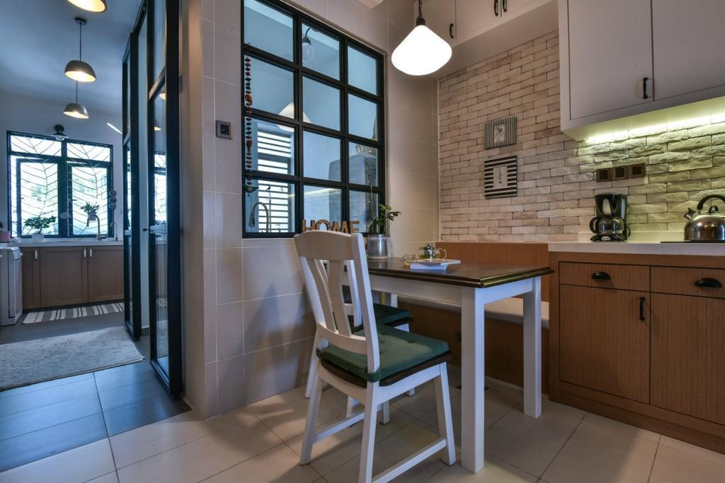 Modern, Landed, Kitchen, 16 Sierra, Akira, Interior Designer, M innovative Builders, Chair, Furniture