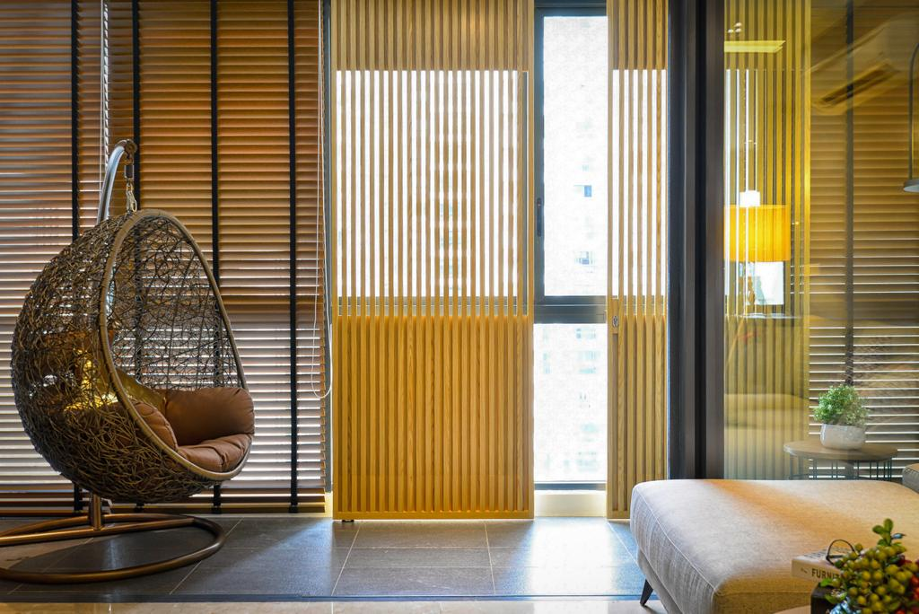 Contemporary, Condo, Concerto, North Kiara, Interior Designer, Dot Works, Minimalistic, Transitional, Curtain, Home Decor, Window, Window Shade, Chair, Furniture