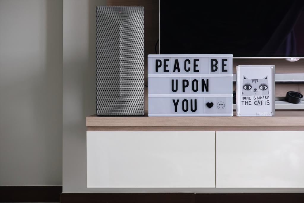 Modern, HDB, Living Room, Choa Chu Kang, Interior Designer, Fifth Avenue Interior, Electronics, Loudspeaker, Speaker, Wall