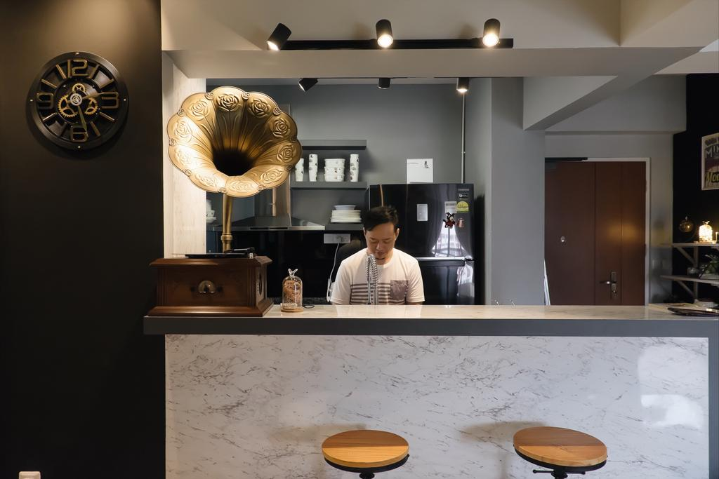 Modern, HDB, Kitchen, Choa Chu Kang, Interior Designer, Fifth Avenue Interior, Human, People, Person, Door, Sliding Door
