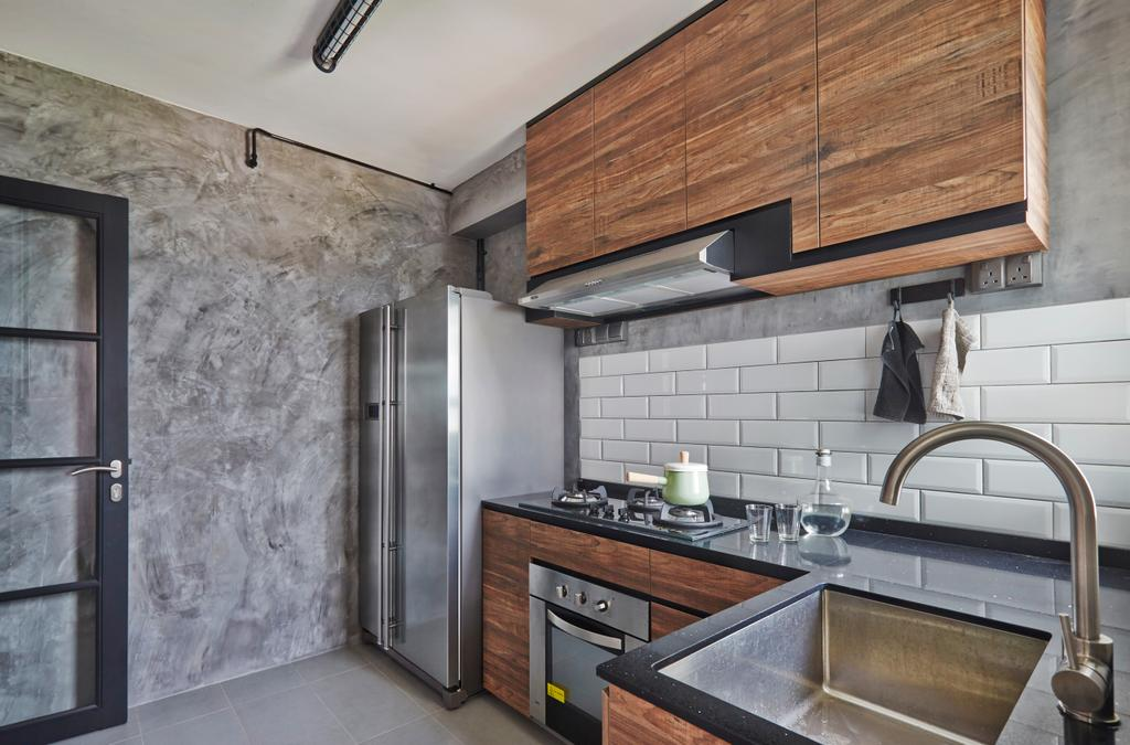 Eclectic, HDB, Kitchen, Bendemeer Road, Interior Designer, Fuse Concept, Tap, Wall, Appliance, Electrical Device, Oven
