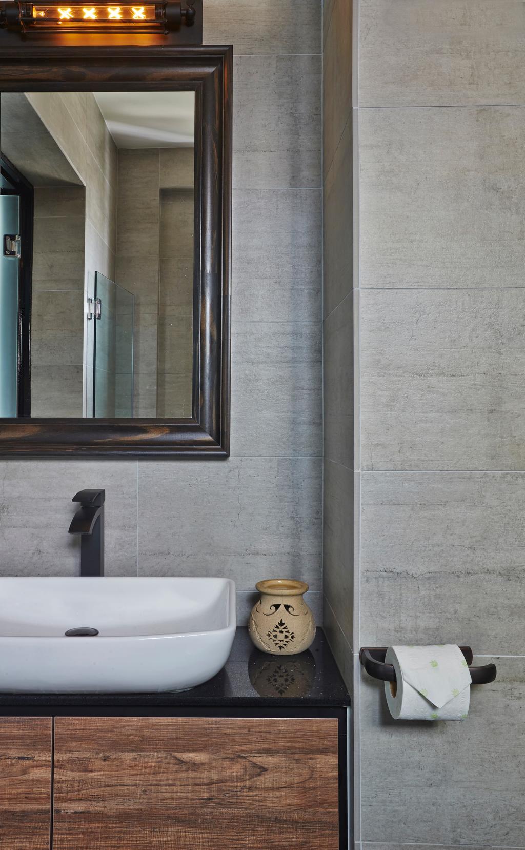 Eclectic, HDB, Bathroom, Bendemeer Road, Interior Designer, Fuse Concept