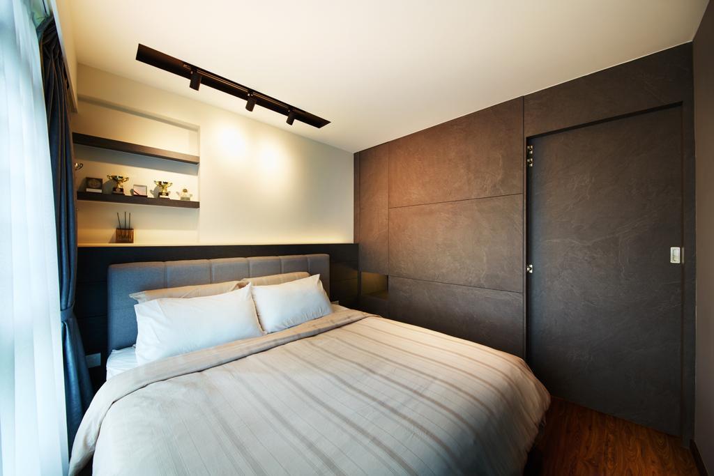 Modern, HDB, Bedroom, Punggol (Block 315), Interior Designer, The Local INN.terior 新家室, Scandinavian, Bed, Furniture, Indoors, Interior Design, Room