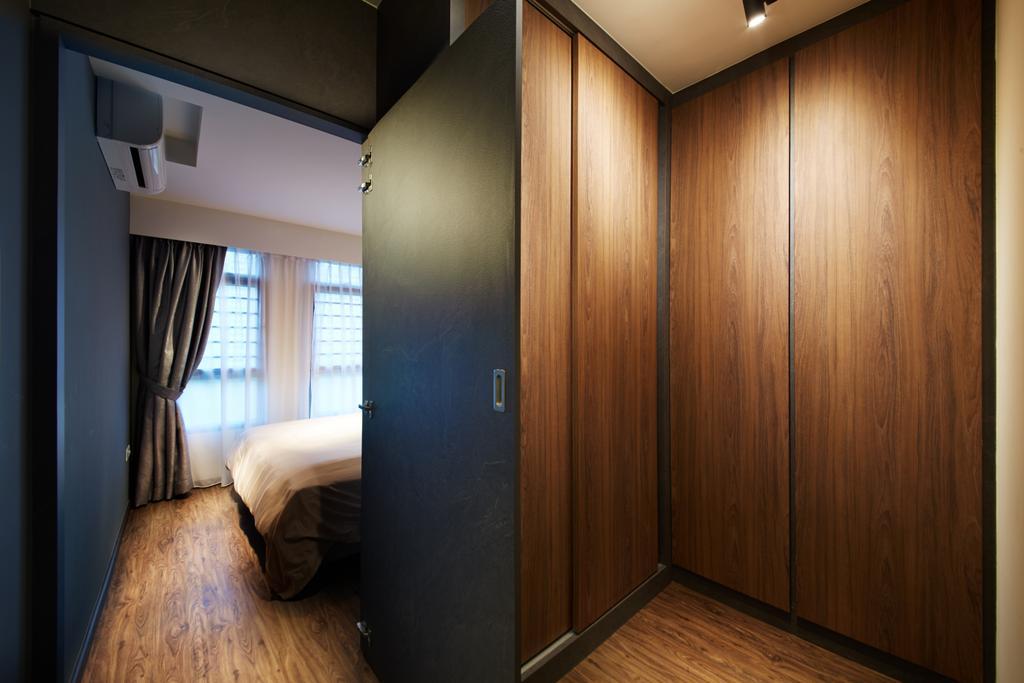 Modern, HDB, Bedroom, Punggol (Block 315), Interior Designer, The Local INN.terior 新家室, Scandinavian, Corridor, Indoors, Interior Design, Room