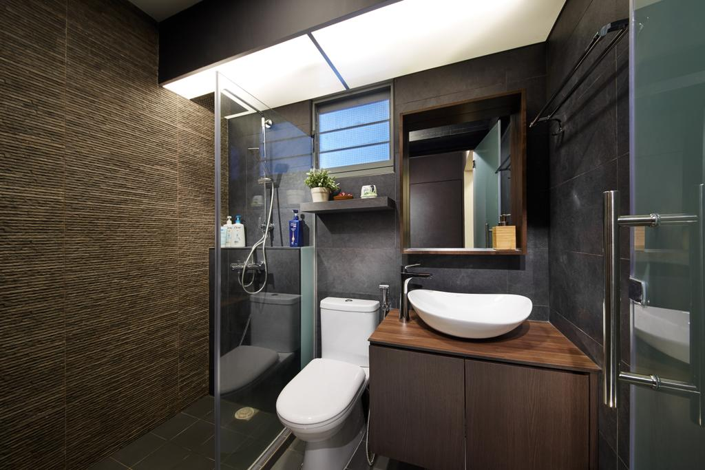 Modern, HDB, Bathroom, Punggol (Block 315), Interior Designer, The Local INN.terior 新家室, Scandinavian, Indoors, Interior Design, Room