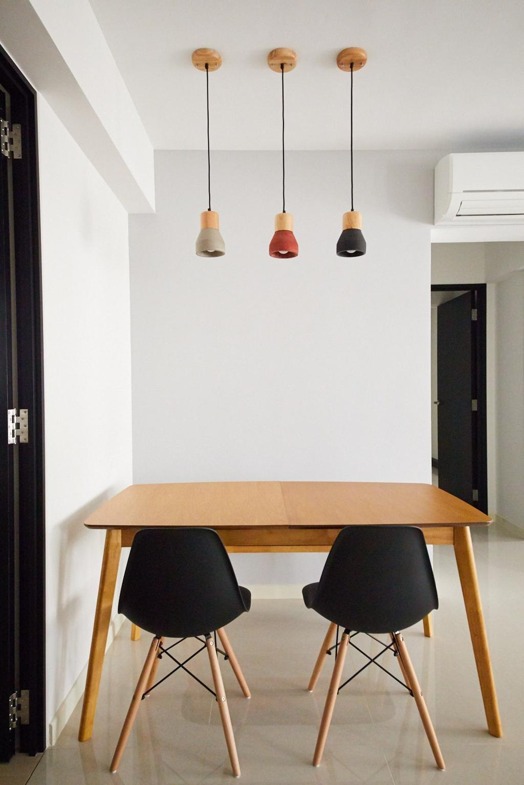 Modern, HDB, Dining Room, Hougang Meadows, Interior Designer, The Local INN.terior 新家室, Scandinavian, Dining Table, Furniture, Table, Chair