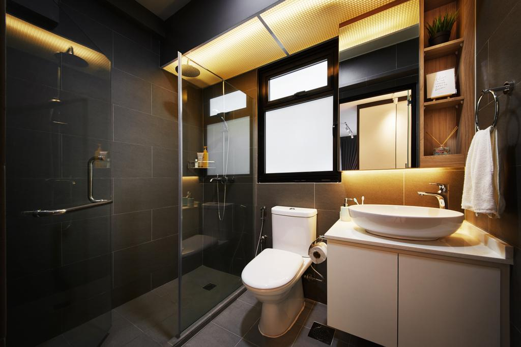 Modern, HDB, Bathroom, Hougang Meadows, Interior Designer, The Local INN.terior 新家室, Scandinavian, Sink, Indoors, Interior Design, Room
