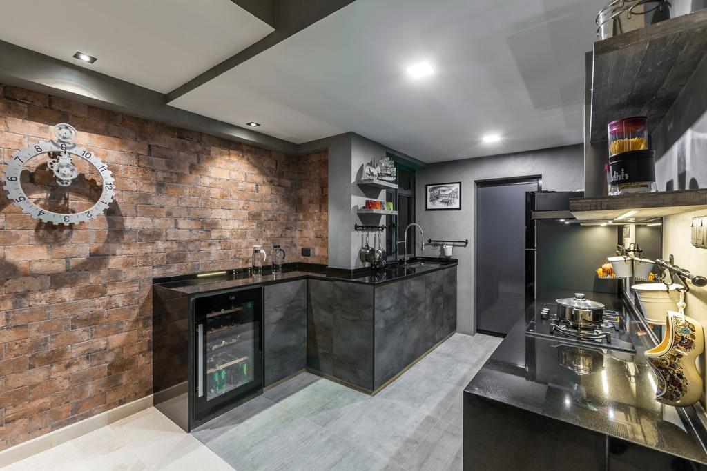 Modern, Condo, Kitchen, Thomson 800, Interior Designer, Rhiss Interior, Appliance, Electrical Device, Oven