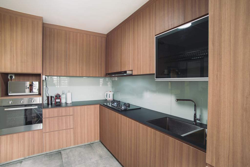 Modern, HDB, Kitchen, Clementi Street 13, Interior Designer, Urban Habitat Design, Indoors, Interior Design, Room