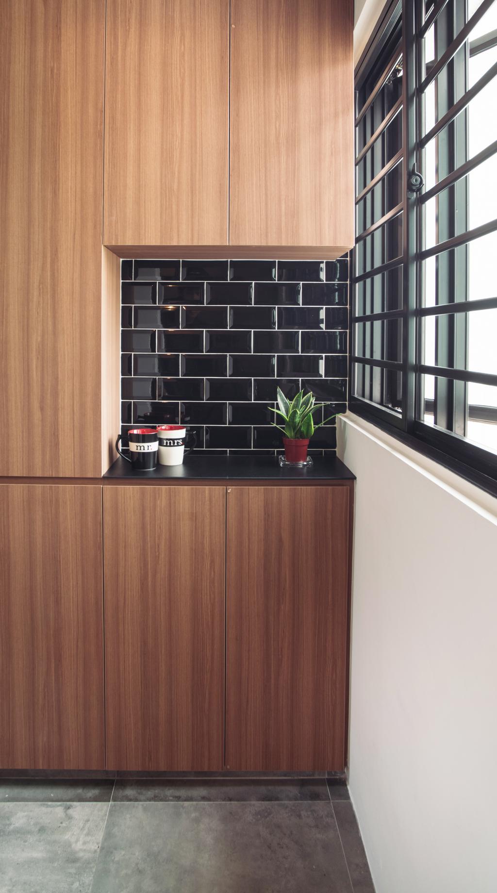 Modern, HDB, Kitchen, Clementi Street 13, Interior Designer, Urban Habitat Design, Coffee Cup, Cup