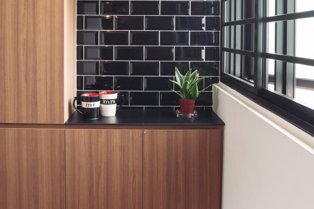 Clementi Street 13, Urban Habitat Design, Modern, Kitchen, HDB, Coffee Cup, Cup