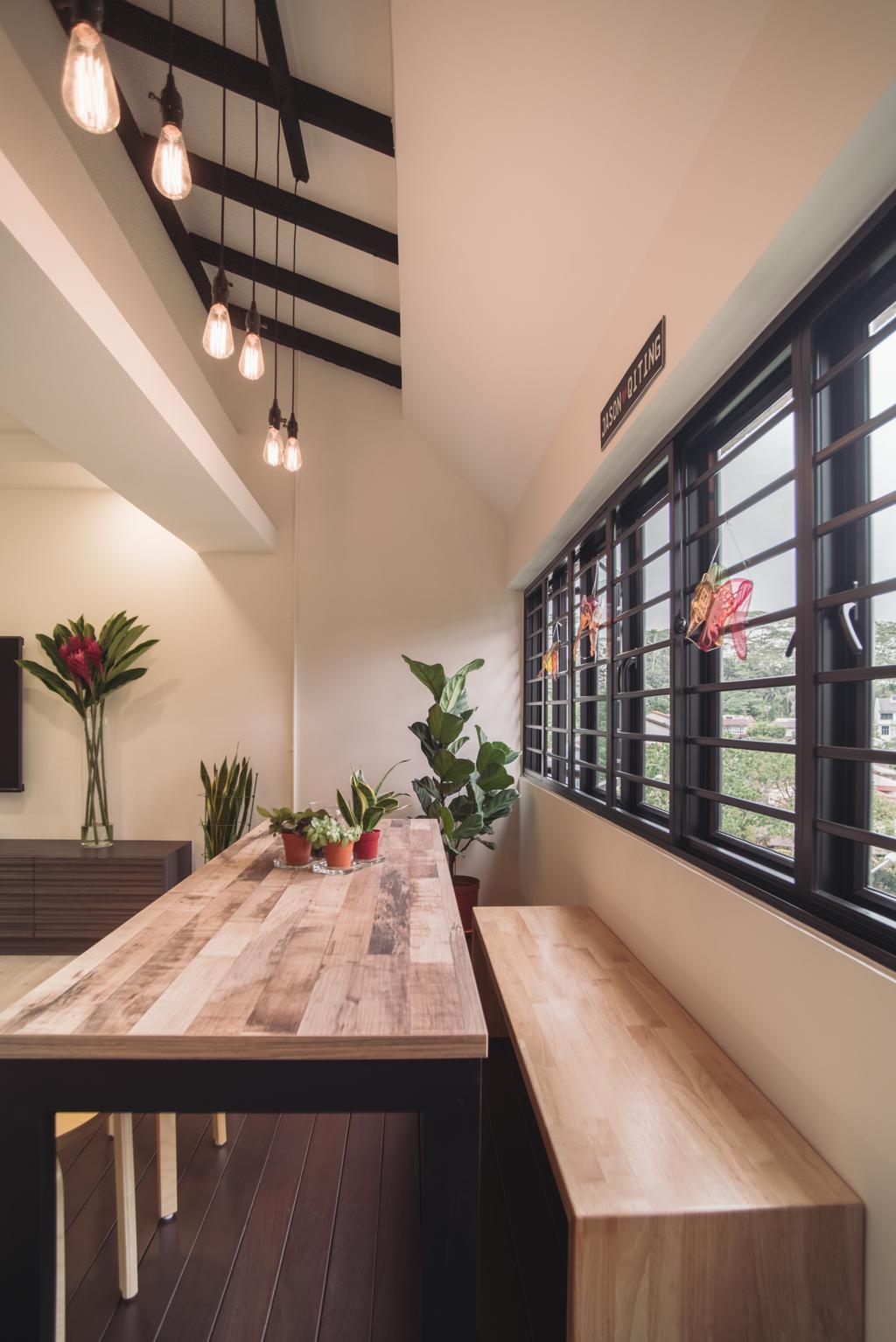 Modern, HDB, Living Room, Clementi Street 13, Interior Designer, Urban Habitat Design, Flora, Jar, Plant, Potted Plant, Pottery, Vase, Art, Blossom, Flower, Flower Arrangement, Ikebana, Ornament