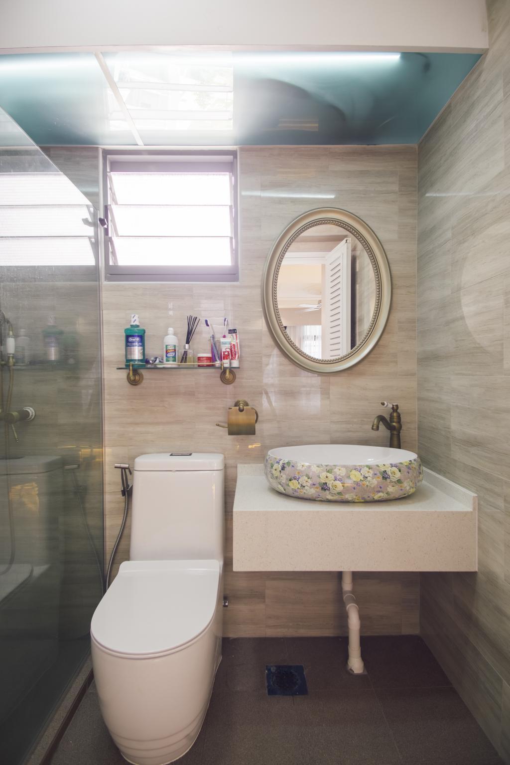 Modern, HDB, Bathroom, Punggol Way (Block 316B), Interior Designer, Urban Habitat Design, Appliance, Electrical Device, Washer