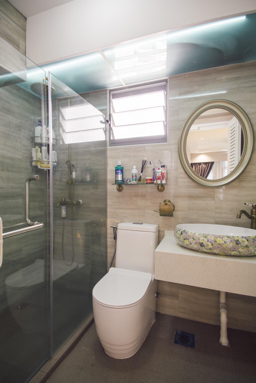 Modern, HDB, Bathroom, Punggol Way (Block 316B), Interior Designer, Urban Habitat Design