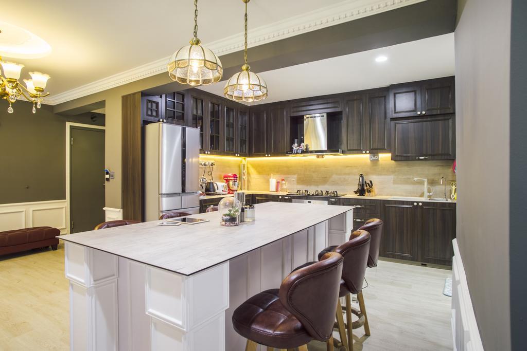 Modern, HDB, Dining Room, Punggol Way (Block 316B), Interior Designer, Urban Habitat Design, Appliance, Electrical Device, Fridge, Refrigerator, Chair, Furniture, Indoors, Interior Design, Room, Kitchen