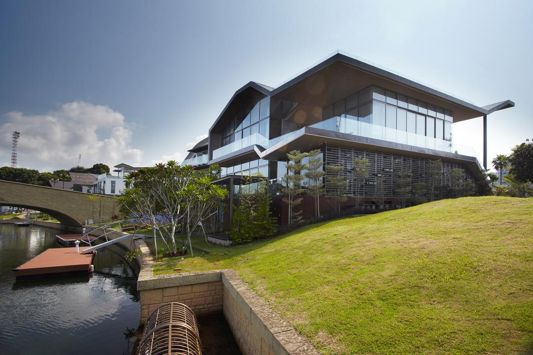 P House, Czarl Architects, Contemporary, Landed, Building, Cottage, House, Housing, Canal, Outdoors, Water