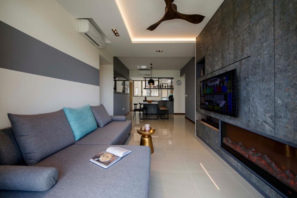 Modern, Condo, Living Room, Sea Horizon, Interior Designer, Starry Homestead, Couch, Furniture