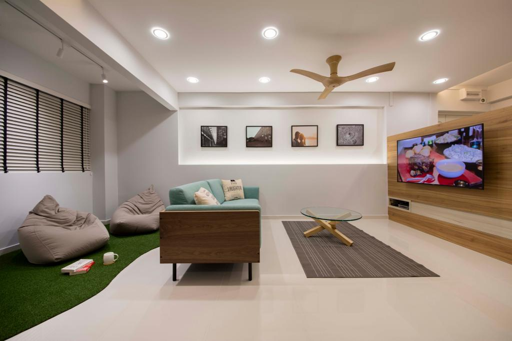 Modern, HDB, Living Room, Tampines Street 71, Interior Designer, Starry Homestead, Scandinavian, Bowl, Coffee Table, Furniture, Table