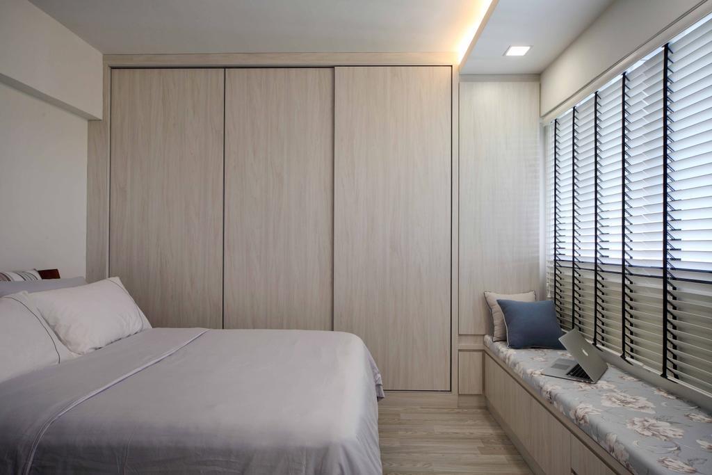 Modern, HDB, Bedroom, Jurong West Street 42 (Block 407), Interior Designer, Space Concepts Design, Couch, Furniture, Indoors, Interior Design, Room