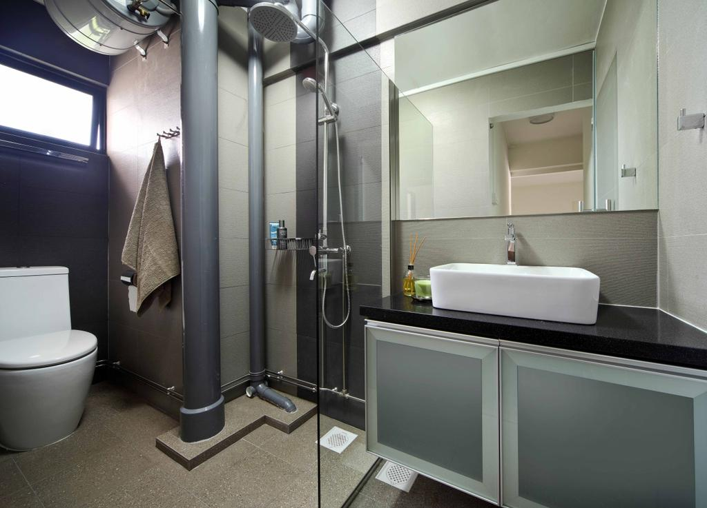 Modern, HDB, Bathroom, Jurong West Street 42 (Block 407), Interior Designer, Space Concepts Design, Indoors, Interior Design, Room, Toilet, Sink