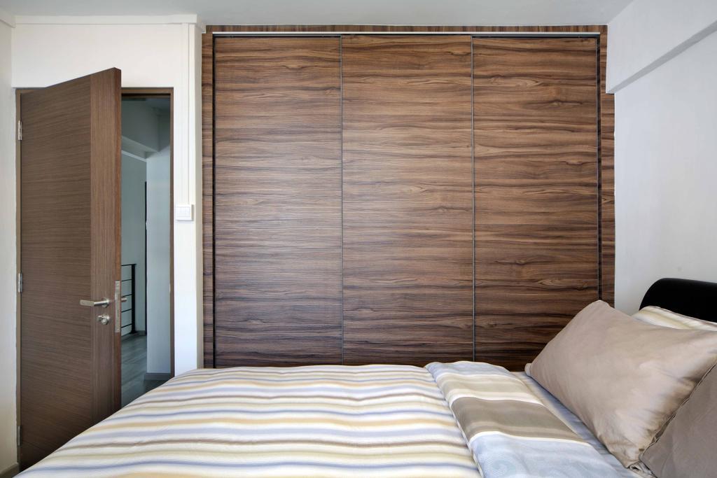 Modern, HDB, Bedroom, Jurong West Street 42 (Block 407), Interior Designer, Space Concepts Design, Bed, Furniture, Blanket, Home Decor