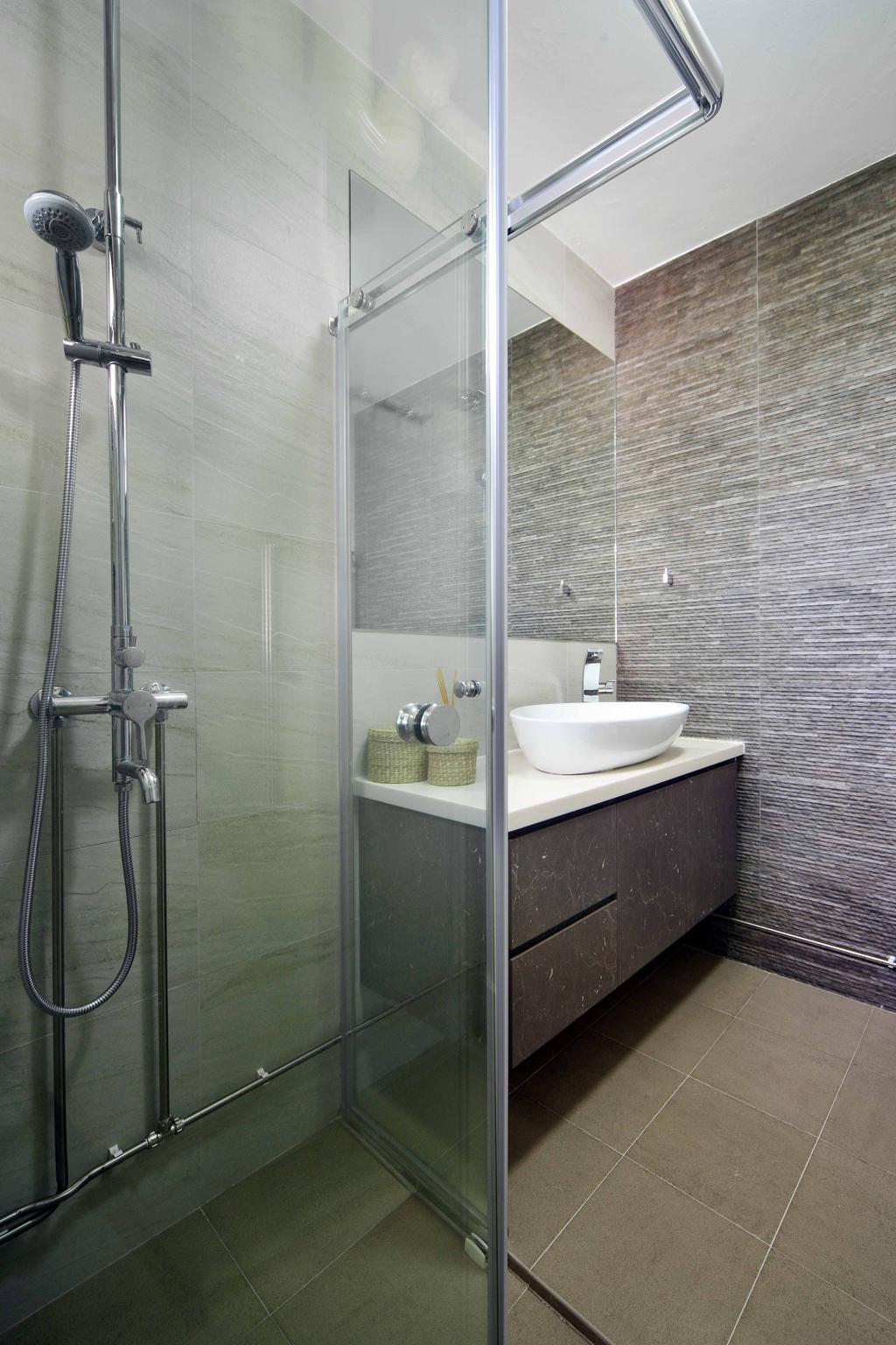 Modern, HDB, Bathroom, Jurong West Street 42 (Block 407), Interior Designer, Space Concepts Design, Shower, Indoors, Interior Design, Room