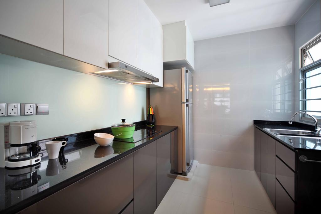 Modern, HDB, Kitchen, Compassvale Link (Block 275A), Interior Designer, Space Concepts Design, Sink, Indoors, Interior Design, Room, Bowl, Building, Housing, Loft