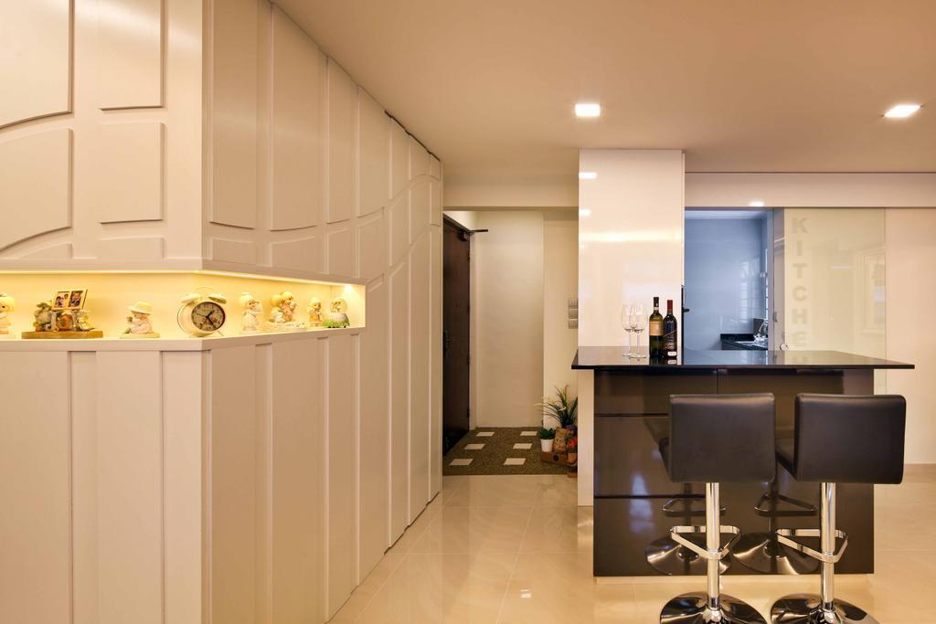 Modern, HDB, Living Room, Compassvale Link (Block 275A), Interior Designer, Space Concepts Design, Indoors, Interior Design