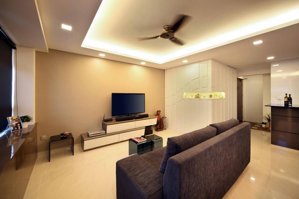 Modern, HDB, Living Room, Compassvale Link (Block 275A), Interior Designer, Space Concepts Design, Couch, Furniture