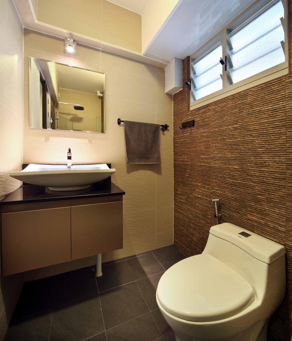 Modern, HDB, Bathroom, Compassvale Link (Block 275A), Interior Designer, Space Concepts Design, Towel, Corridor, Indoors, Interior Design, Room