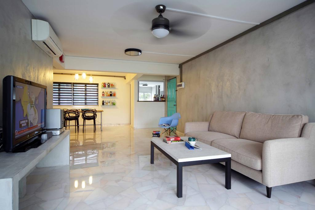 Transitional, HDB, Living Room, Tampines Street 21 (Block 254), Interior Designer, Space Concepts Design, Couch, Furniture, Indoors, Room, Dining Room, Interior Design, Coffee Table, Table