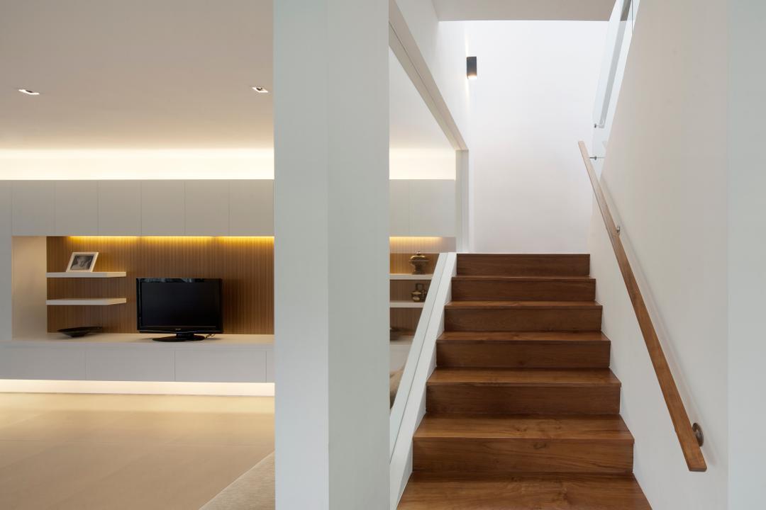 Westlake House (Bukit Timah), Wallflower Architecture + Design, Minimalistic, Landed, Stairs, Stairway, Walkway, Banister, Handrail, Staircase