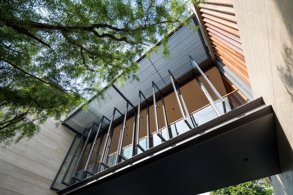 Contemporary, Landed, Secret Garden House (Bukit Timah), Architect, Wallflower Architecture + Design, Gutter, Balcony