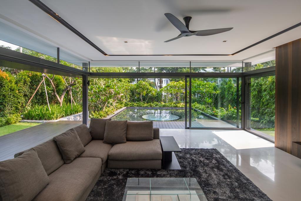 Contemporary, Landed, Secret Garden House (Bukit Timah), Architect, Wallflower Architecture + Design, Couch, Furniture