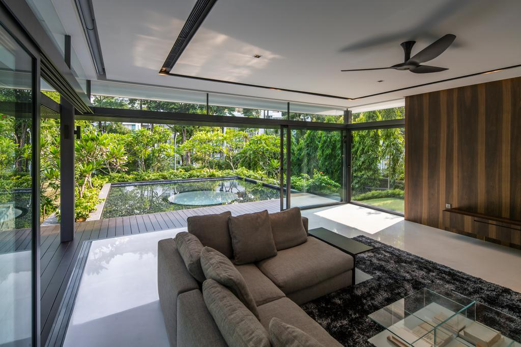 Contemporary, Landed, Secret Garden House (Bukit Timah), Architect, Wallflower Architecture + Design, Couch, Furniture