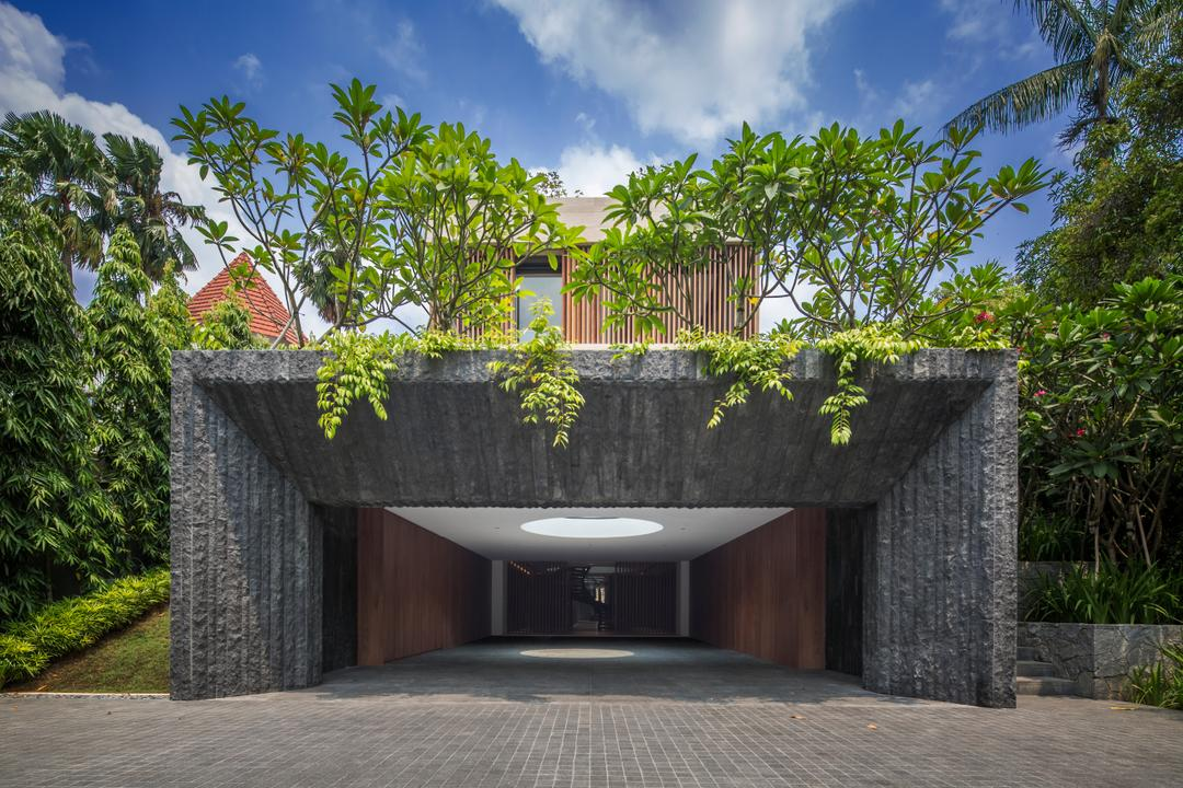 Secret Garden House (Bukit Timah), Wallflower Architecture + Design, Contemporary, Landed, Flora, Jar, Plant, Potted Plant, Pottery, Vase, Building, House, Housing, Villa, Patio, Pergola, Porch, Balcony