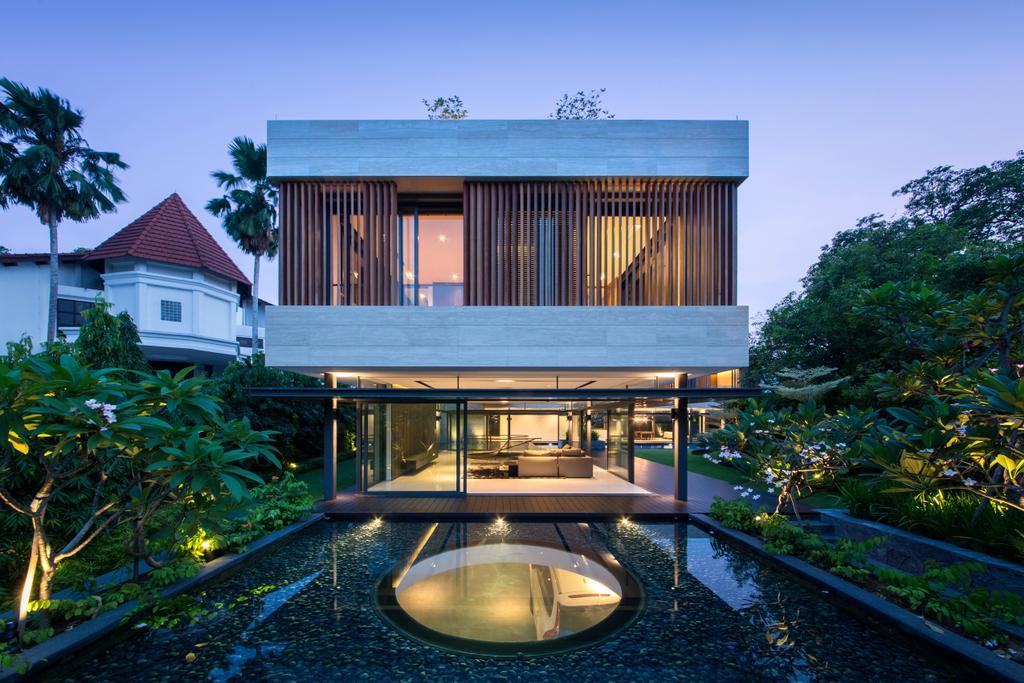 Contemporary, Landed, Secret Garden House (Bukit Timah), Architect, Wallflower Architecture + Design, Arecaceae, Flora, Palm Tree, Plant, Tree, Building, Hotel, Resort
