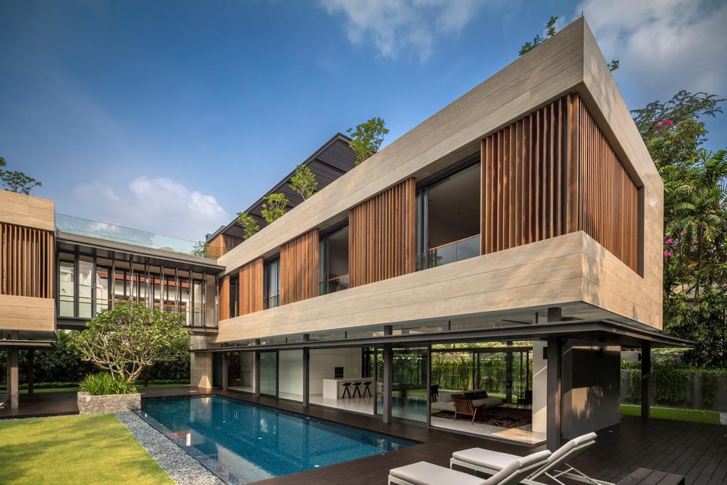 Contemporary, Landed, Secret Garden House (Bukit Timah), Architect, Wallflower Architecture + Design, Building, House, Housing, Villa, Flora, Jar, Plant, Potted Plant, Pottery, Vase