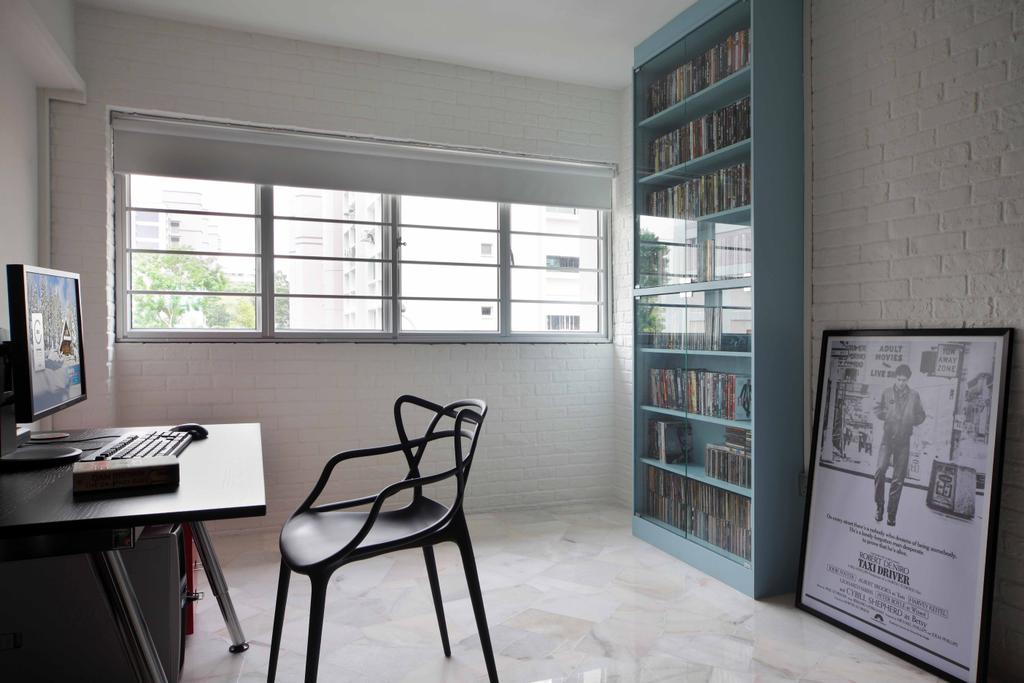 Transitional, HDB, Study, Tampines Street 21 (Block 254), Interior Designer, Space Concepts Design, Chair, Furniture, Plaque