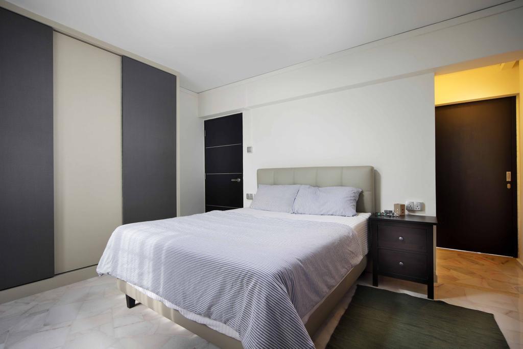 Transitional, HDB, Bedroom, Tampines Street 21 (Block 254), Interior Designer, Space Concepts Design, Indoors, Interior Design, Room, Bed, Furniture, Cabinet