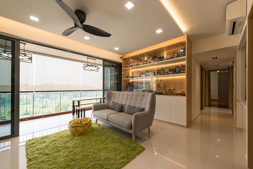 Minimalistic, Condo, Living Room, Sky Park Residences, Interior Designer, Summit Design Studio, Corridor, Chair, Furniture