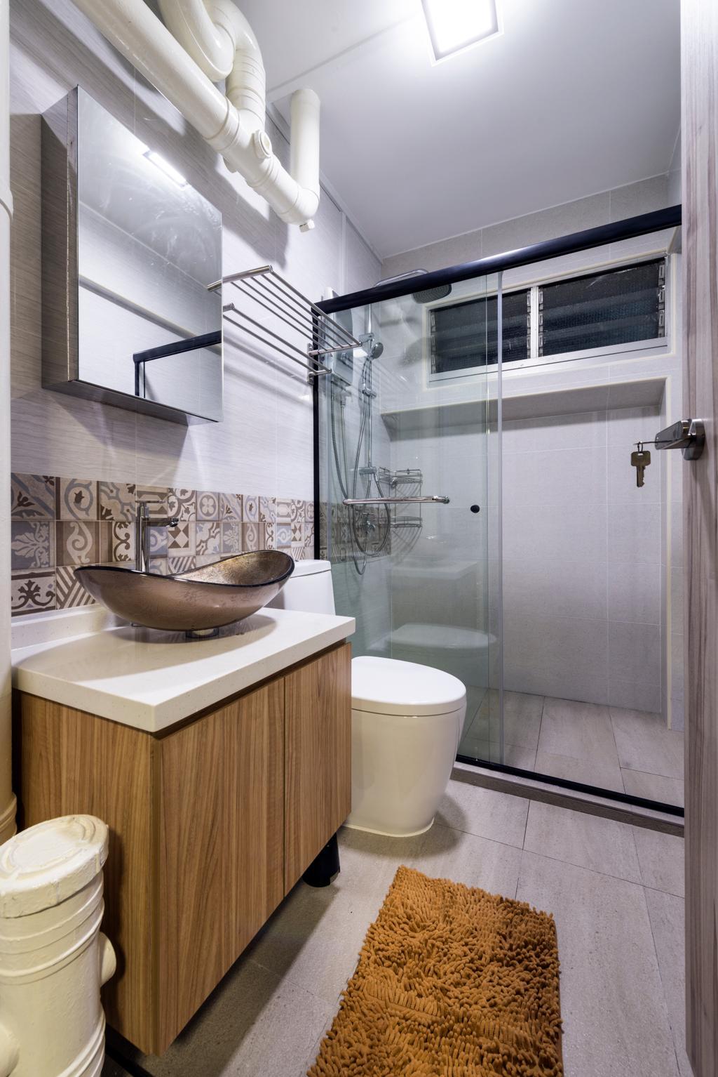 Industrial, HDB, Bathroom, Bishan Street 22, Interior Designer, Fifth Avenue Interior, Toilet