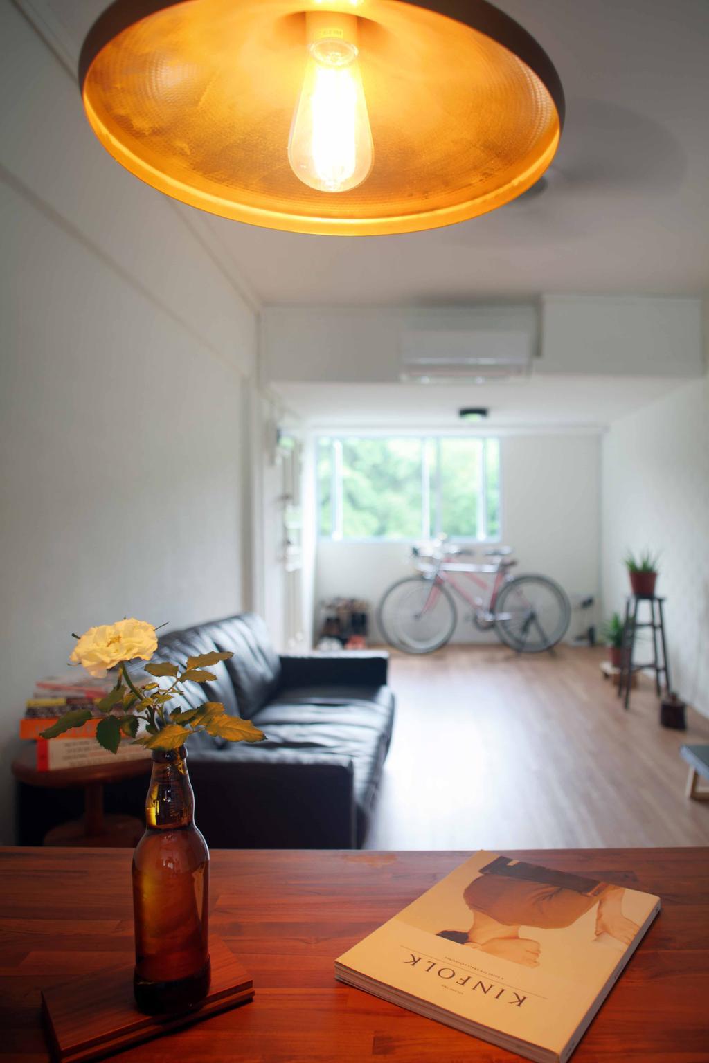 Scandinavian, HDB, Living Room, Telok Blangah Heights (Block 60), Interior Designer, Space Concepts Design, Bicycle, Bike, Transportation, Vehicle, Building, Housing, Indoors