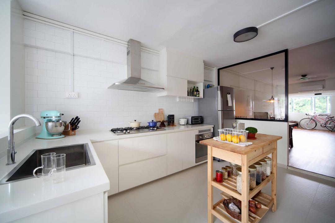Telok Blangah Heights (Block 60), Space Concepts Design, Scandinavian, Kitchen, HDB, Box, Crate, Sink