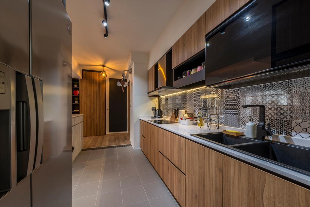 Scandinavian, HDB, Kitchen, Compassvale Crescent (Block 286B), Interior Designer, Meter Square, Industrial, Sink