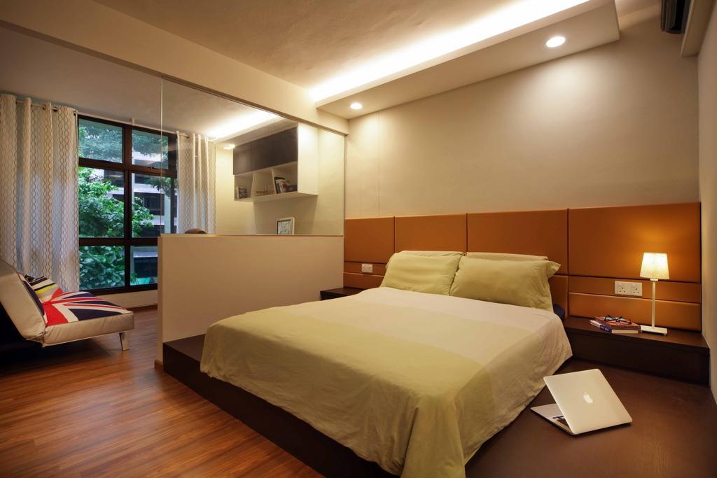 Modern, HDB, Bedroom, Segar Road (Block 465), Interior Designer, Space Concepts Design, Bed, Furniture, Indoors, Room, Window