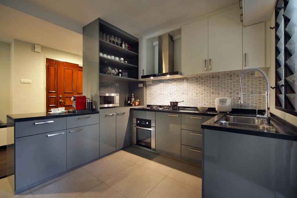 Modern, HDB, Kitchen, Segar Road (Block 465), Interior Designer, Space Concepts Design, Indoors, Interior Design, Room, Appliance, Electrical Device, Oven, Tile, Bathroom