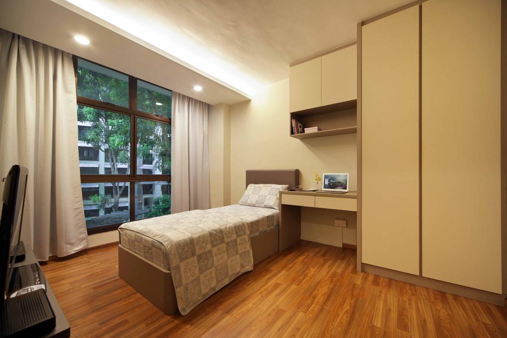 Modern, HDB, Bedroom, Segar Road (Block 465), Interior Designer, Space Concepts Design, Flooring, Balcony, Door, Sliding Door, Indoors, Interior Design, Room